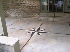 Painted Concrete Patio