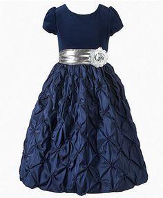 Princess Faith Kids Dress, Girls Velvet Flower Dress - Kids Special Occasion - Macy's