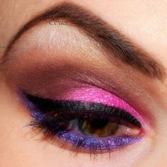 Neon Eye Make-up fun for an 80s theme party