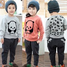 Aliexpress.com : Buy 2013 Fashion Hot Sale Panda Pattern Kids Clothing Sets Children's Wear Hoodies for Girls Boys Spring Antumn Winter Thick Garment from Reliable kids sets suppliers on beike's store