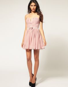 flirty rose colored dress (from asos)