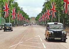 The Mall in London which leads takes you to Buckingham Palace is a stunningly lined street