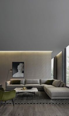 #homedesign #livingroomdecor #inspiration | Inspiration for a large contemporary open concept living room in Sydney with beige walls and medium tone hardwood floors. — Houzz