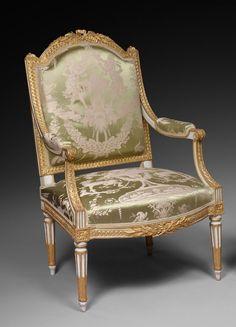 Elégante paire de fauteuils à la reine d'époque Louis XVI, estampillée P. Pluvinet - XVIIIe siècle - N.44990