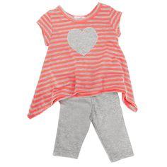 Sofi Infant Girl Sharkbite Heart Legging Set #VonMaur
