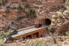 The Zion Mount Carmel Tunnel at Zion National Park in Utah was completed in and was a feat of engineering at the time. Places To Travel, Places To See, Utah Vacation, Dream Vacations, Vacation Ideas, Utah Camping, Most Visited National Parks, Utah Adventures, Utah Hikes