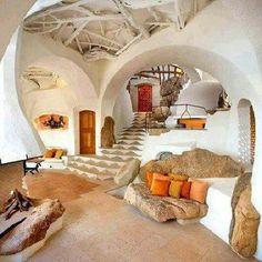 Richard olsens handmade home cob house interior. Handmade Home, Handmade Crafts, Handmade Headbands, Handmade Jewelry, Oyin Handmade, Handmade Wooden, Handmade Rugs, Beaded Jewelry, Home Design