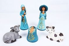 "3.5"" tall ceramic Nativity Set"