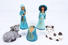 "3.5"" tall ceramic Nativity Set"