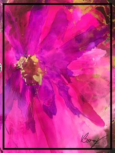 """""""Pink Lady"""" Alcohol Ink by Bonny Butler"""