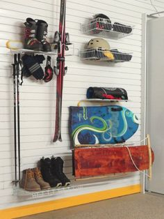 Ski Storage Ideas. See More. A Special Area For Your Winter Sports  Equipment From Skis, Sleds, Snow Boards,