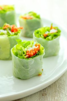 Summer Rolls with Creamy Peanut Dip and Chili Garlic Sauce - The Fitchen