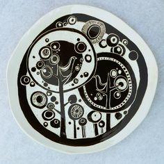 "14"" Handmade Ceramic Serving Platter Sgraffito Technique. $150.00, via Etsy."