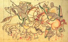 """""""And in that year, there was a huge battle, and heads were lopped off, and people rode their horses backwards.""""      Manuscript:MS 26 - Chronica Majora   Folio:?  Location:St Albans, England  Dating:1240 - 1253  Institution:Corpus Christi College  Image Source:http://upload.wikimedia.org/wikipedia/commons/f/f0/Battle-Damietta.jpg"""