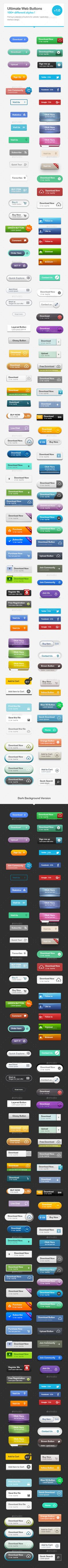 120 Web Buttons Template PSD #ads Download: http://graphicriver.net/item/120-web-buttons/13318875?ref=ksioks