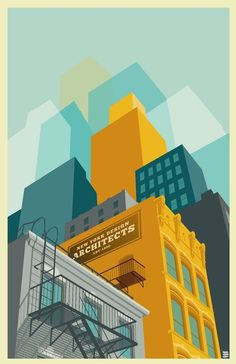 Colorful NYC Art Prints by Remko Heemskerk Like the treatment on the buildings. NYC Art Prints by Remko Heemskerk Like the treatment on the buildings.Like the treatment on the buildings. Gravure Illustration, Illustration Art Nouveau, Building Illustration, City Illustration, Graphic Design Illustration, Digital Illustration, Halloween Illustration, Graphic Art, Vector Illustrations