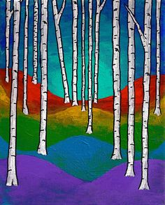 Vision Quest XVIII Original Acrylic Painting 8 x by MikeKrausArt