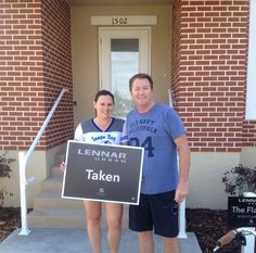 Let's all give a big WELCOME to Erik and Elise our newest Happy Homeowners in West End!