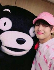 Awww he's wearing pink(my favorite color), so cute!!!!!! No one knows , but that is actually me in that bear costume ;)