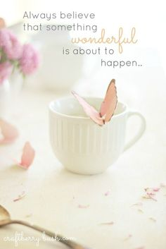 How to make a (Mother's Day) Butterfly Tea Bag Tag, such a sweet idea! Meditation Musik, Little Presents, Always Believe, Morning Quotes, Morning Images, Sunday Quotes, Night Quotes, Beautiful Words, Beautiful Mind