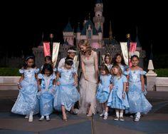 Real life princess, Lily James, posed with fellow royalty at Disneyland!