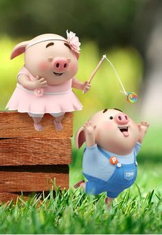 Pig Wallpaper, Disney Wallpaper, This Little Piggy, Little Pigs, Cute Piglets, Pig Illustration, Cute Cartoon Characters, Funny Pigs, Animated Dragon