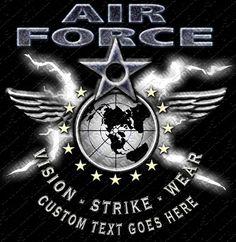 Air Force Crossed Lightning Military Shirt $17.76