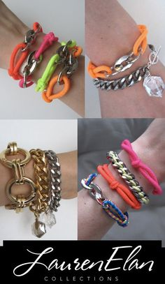 more cute bracelets -- I think my sister and I made some like the neon ones in the 80's -early 90's
