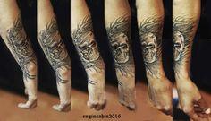 skull tattoo - kurukafa - freehand tattoo - engin şahin