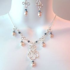 Image result for wire wrapped wedding necklace