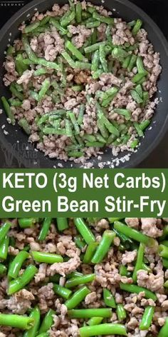 This easy keto ground beef recipe for dinner is perfect for busy weeknights. It's a one pot meal that's ready in 15 minutes or less. #ketodinners #easyrecipes #lowcarbyum