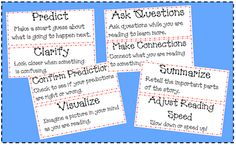 A Day in the Life of a Classroom Teacher: Comprehension Strategies Bookmark and Mini Posters