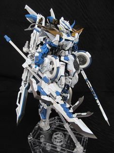 "Custom Build: MG Gundam Astray Blue Frame version ""Richigobankai"" Gundam Toys, Gundam Art, Armored Core, Gundam Astray, Gundam Wallpapers, Gundam Mobile Suit, Gundam Custom Build, Gundam Wing, Gunpla Custom"