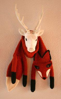 bosliefje: Patroon gehaakte vossensjaal