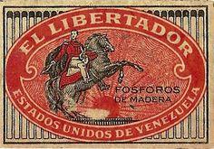 El Libertador  (Caja de fosforos)   -lbk-