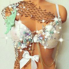 Mint Mermaid Fantasy Bra by TheLoveShackk on Etsy