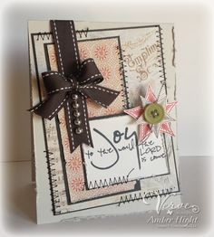 Holiday card by Amber Hight using stamps releasing from Verve 11/2/12.