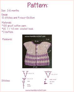 Round yoke baby crochet cardigan free pattern and tutorial2