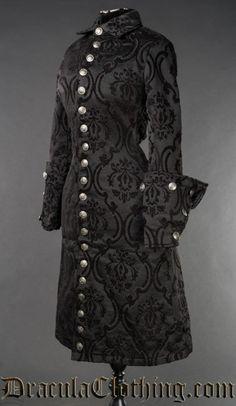 Black Brocade Female Admiral Coat