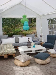 Best looking outdoor furniture is easily done yourself - 20 ideas to the patio with pallets - Comfortable home