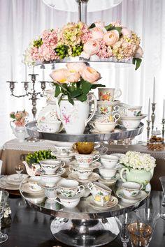 tea cups galore #tea #teacups #serve photo by Perez Photography