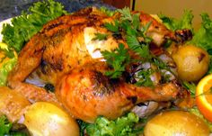 Tyler Florence's Ultimate Roast Chicken I Got this off of Food networks website, and like it soo muc Roast Chicken Recipes, Roasted Chicken, Turkey Recipes, Chicken Recepies, Turkey Dishes, Chef Recipes, Food Network Recipes, Cooking Recipes, Cooking Corn
