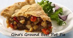 Gina's Ground Beef Pot Pie   100 Ways To Prepare Hamburger   Hamburger Recipes