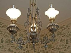 Light fixture from 1840 home in Bethel Park, PA.