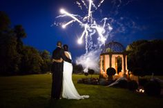 Private Fireworks French Chateau Wedding