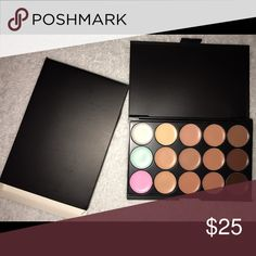 ✨SALE✨15 Colors Concealer Palette Make Up Cream 100% BRAND NEW                                              15 color Concealer Palette Makeup Cream                                         An ensemble of multiple vibrant longwear concealer colors 15 full color palettes Concealer,colors match your every look Can last for all day long! Perfect for both Professional Salon or Home use!Case Material: Plastic Makeup Concealer