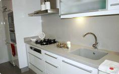 Color Beige Claro, Sink, Kitchen Cabinets, Home Decor, United Nations, Ideas Para, Kitchen Ideas, Kitchens, Board