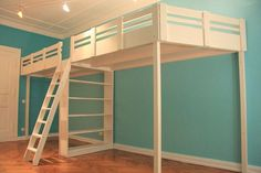 Hochbett Loft beds & loft floors made in Berlin, loft bed Berlin, Menke bed, made-to-measure loft be Loft Bunk Beds, Kids Bunk Beds, Kids Beds Diy, Bedroom Loft, Kids Bedroom, Bedroom Decor, Bedroom Ideas, Bunk Bed Designs, Shared Kids Rooms