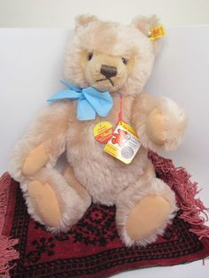 "Steiff Original Teddy Bear 0201/41 Signed Margaret ALL TAGS New 14"" Growler NWT"