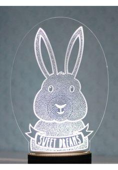 Night Light - Bunny.  #littlelumps #baby #nursery #southafrica Night Light, Decorative Plates, Bunny, Baby Boy, Nursery Ideas, Home Decor, Products, Cute Bunny, Decoration Home